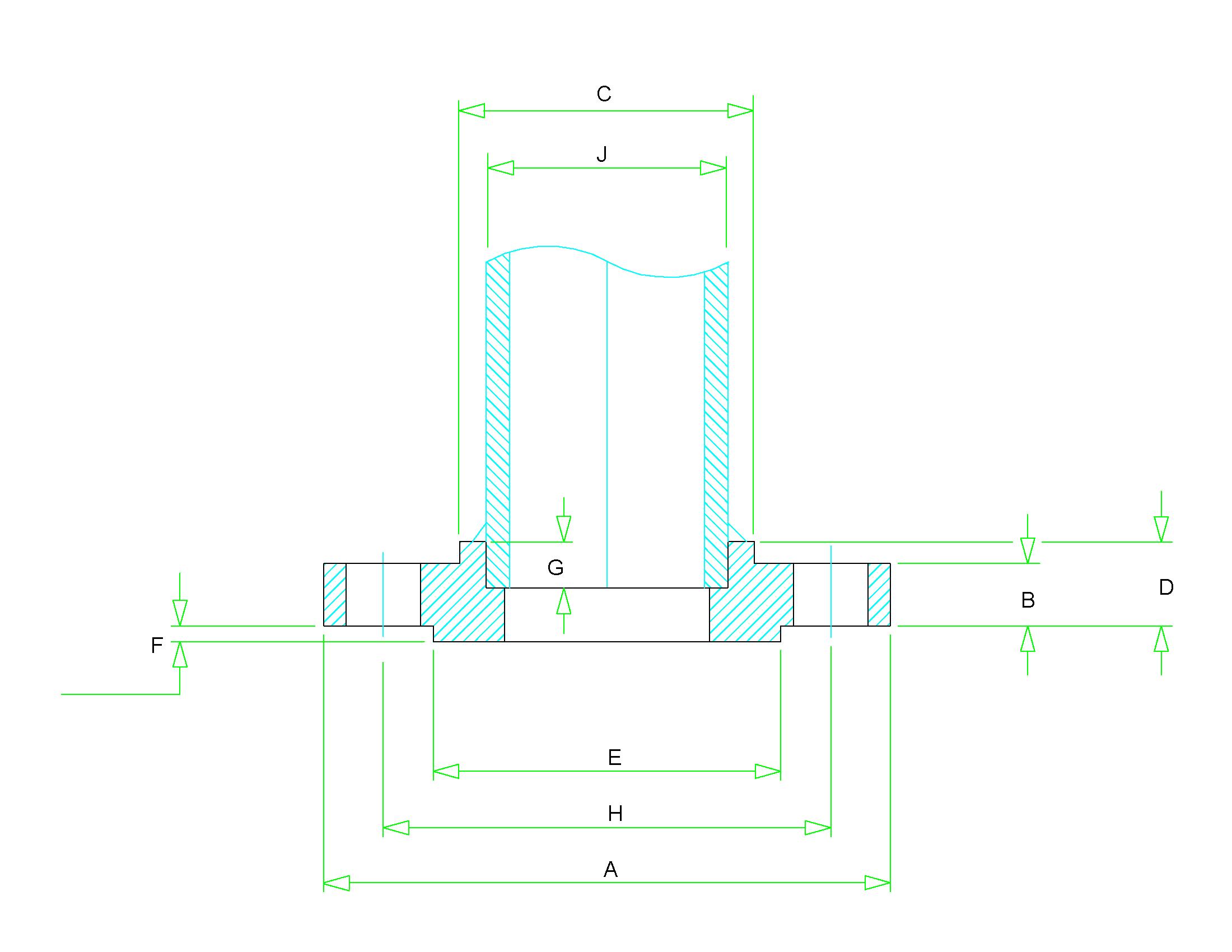 dimensions Socket Weld Flange