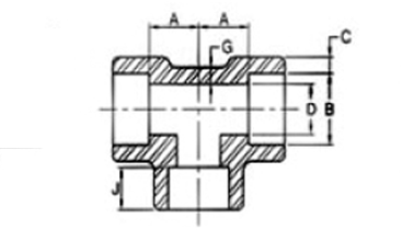 dimensions socketweld cross